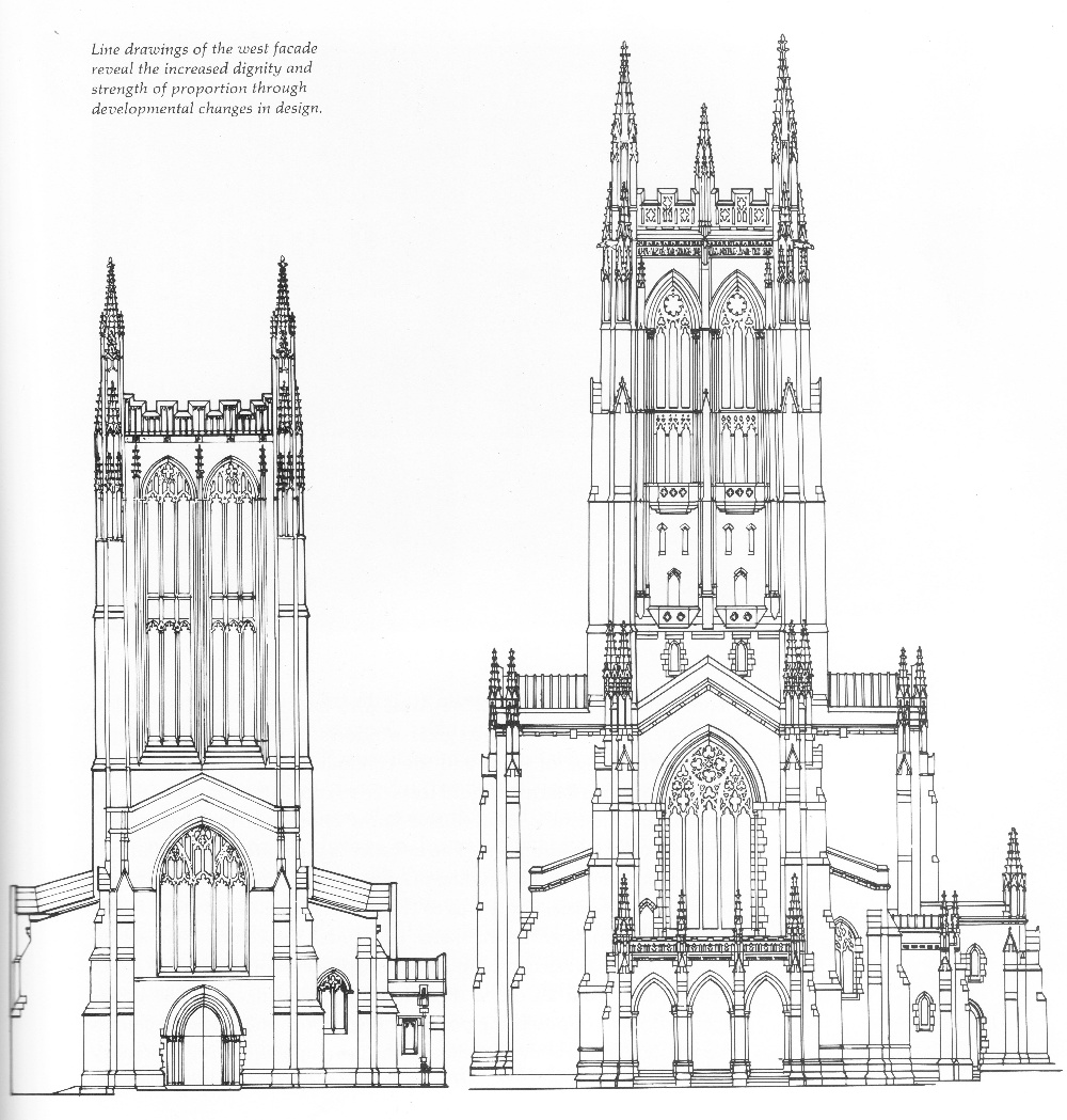 Line Drawings Of The West Facade Reveal The Increased Dignity And